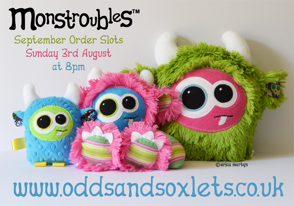 Monstroubles-SEPT-ORDER-SLOTS-Odds-and-Soxlets-Copyright-Erica-Martyn