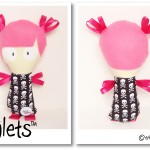 BRIGHT-PINK-GIRL-Scull&Crossbones-Dinkie-Dollie-Taglets-PREVIEW-Copyright-Erica-Martyn