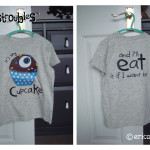 Odds-&-Soxlets---Harry's-Monster-T-shirt---Monstroubles-Cupcake---Copyright-Erica-Martyn