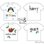 Odds&Soxlets-Children's-Festive-T-shirt-Designs-Copyright-Erica-Martyn