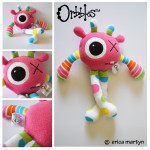 Orbbles-PIXEL-Bright-Pink-Medium-Alien-Odds-and-Soxlets-Copyright-Erica-Martyn-LARGE-PREVIEW