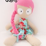 PINK&TURQUOISE-FLORAL-Fabric-Dinkie-Dollie-Large-Preview-Copyright-Erica-Martyn