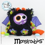 Monstroubles-Batch-26-6b-2015-0062-DRAGON-Black-Purple-Doodle-Bug-Halloween-Odds-and-Soxlets-Copyright-Erica-Martyn-PREVIEW-FULL