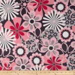 Michael Miller Flower Shower Corduroy Pink