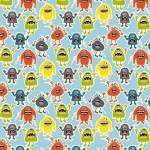 Makower - Little Monsters - Monsters Blue
