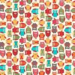 Makower - Little Monsters - Owls Coloured