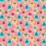 Makower - Little Monsters - Monsters Pink