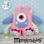 Monstroubles-Batch-05-NEW-MONSTERS-6f-2016-001-CUDDLE-Baby-Pink-Fur-Blue-Roses-Odds-and-Soxlets-Copyright-Erica-Martyn-PREVIEW-Square-FULL