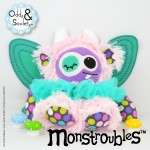 Monstroubles-Batch-16-6b-2015-039-FAIRY-Baby-Pink-Purple-Orchard-Dots-Teal-Odds-and-Soxlets-Copyright-Erica-Martyn-PREVIEW-FULL