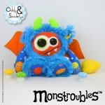 Monstroubles-Batch-22-6b-2015-0055-DRAGON-Blue-Orange-Yellow-Ocean-Odds-and-Soxlets-Copyright-Erica-Martyn-PREVIEW-FULL