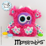 Monstroubles-Batch-3-6b-2015-004-Bright-Pink-Lovely-Dots-Odds-and-Soxlets-Copyright-Erica-Martyn-PREVIEW-FULL