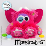 Monstroubles-Batch-3-6b-2015-005-FAIRY-Bright-Pink-Toadstool-Odds-and-Soxlets-Copyright-Erica-Martyn-PREVIEW-FULL