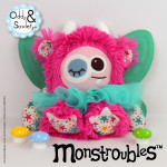 Monstroubles-Batch-4-6b-2015-009-FAIRY-Bright-Pink-Teal-Stars-Odds-and-Soxlets-Copyright-Erica-Martyn-PREVIEW-FULL