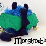Monstroubles-Batch-5-6b-2015-0011-DRAGON-Blue-Teal-Stars-Odds-and-Soxlets-Copyright-Erica-Martyn-PREVIEW-BACK-SPIKES