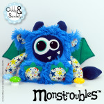 Monstroubles-Batch-5-6b-2015-0011-DRAGON-Blue-Teal-Stars-Odds-and-Soxlets-Copyright-Erica-Martyn-PREVIEW-FULL