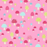 Makower - Pink Toadstools